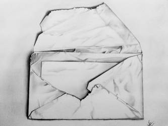 The message (pencil on paper) by ShinzaK