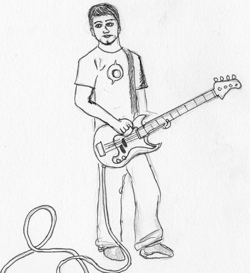 Bass Player By MaddyMcFly