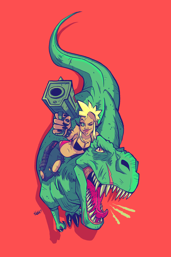 Ronnie and Rexxie by kayliesaurus-rex
