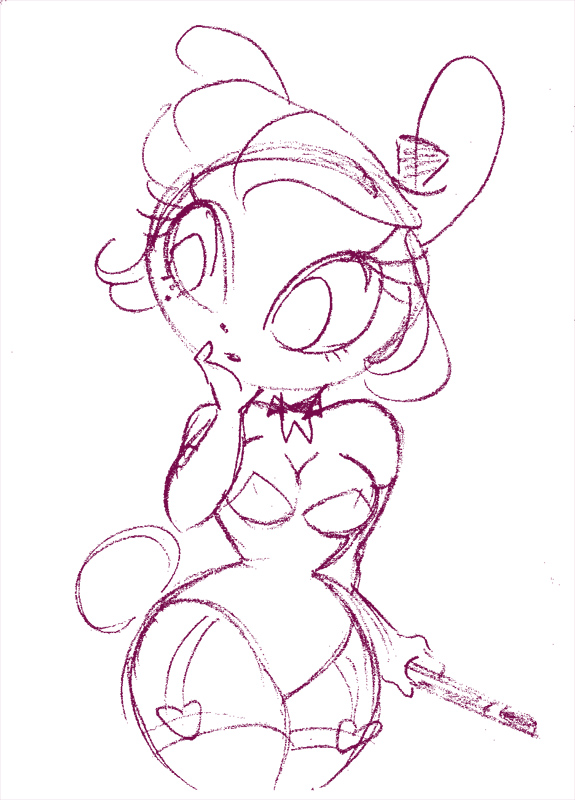 miss bunbun sketch by kayliesaurus-rex