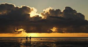 a walk during sunset by donnosch