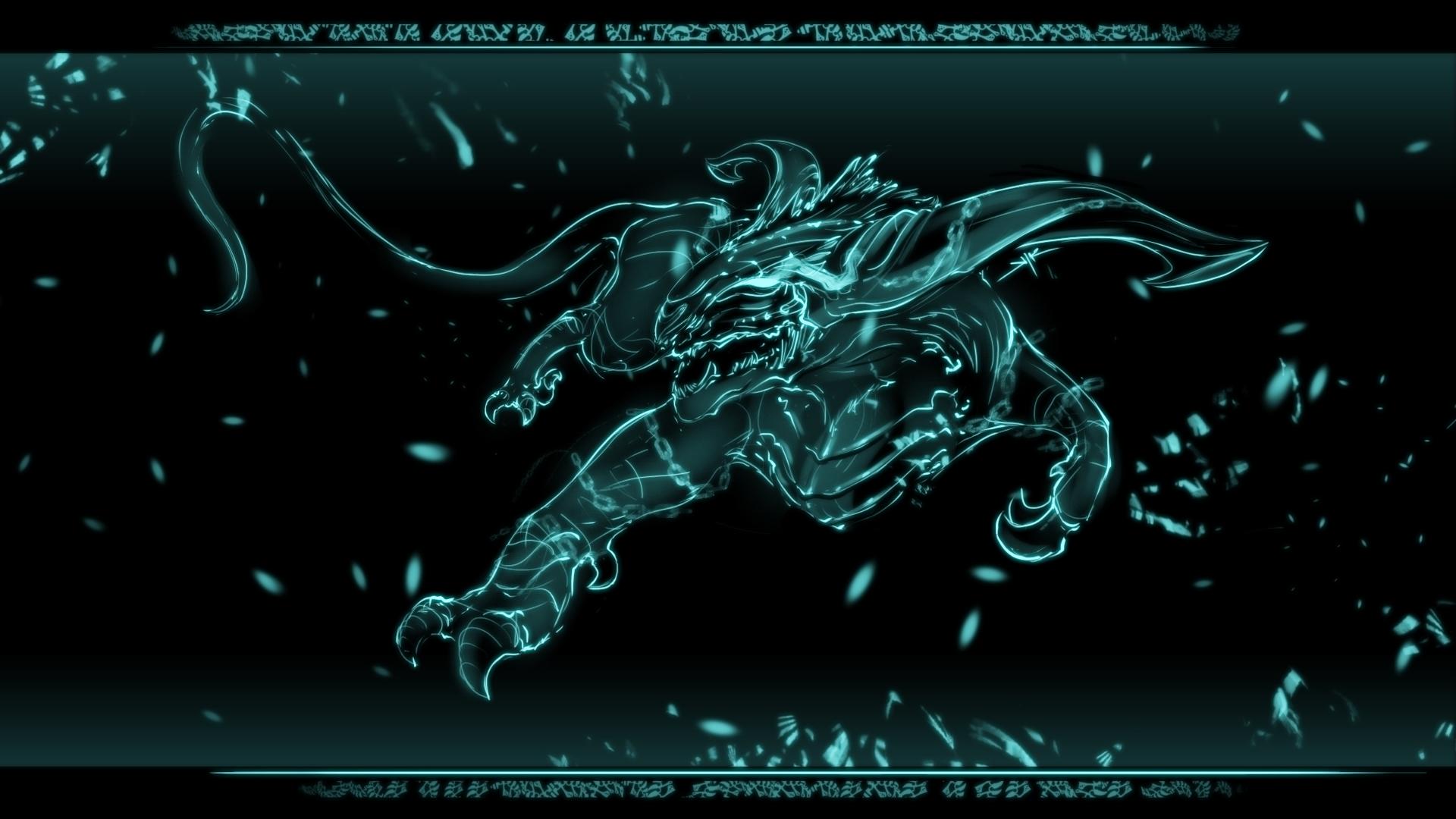 Lighting Dragon Wallpaper Light Raptor Tiger Sketch The