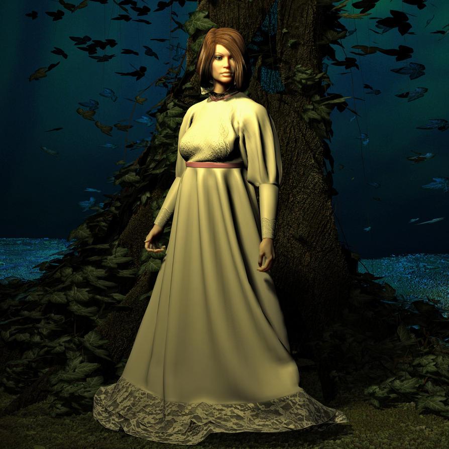 Moonlit Girl by Goldenthrush