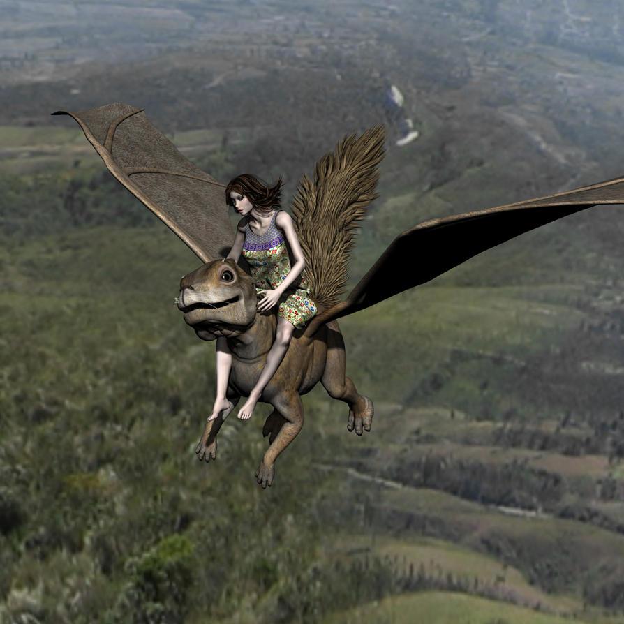 Flying' Squoorl by Goldenthrush