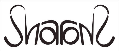 Sharon: mirror ambigram by dtw42