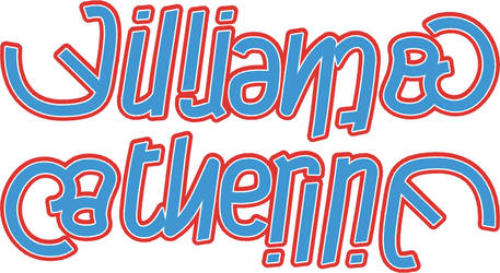William + Catherine ambigram by dtw42