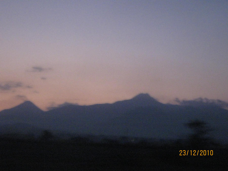 Volcano and Snowpeak of Colima by SilverMoon-Archer