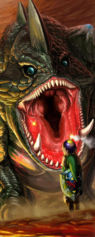 Link vs King Dodongo by Txikimorin