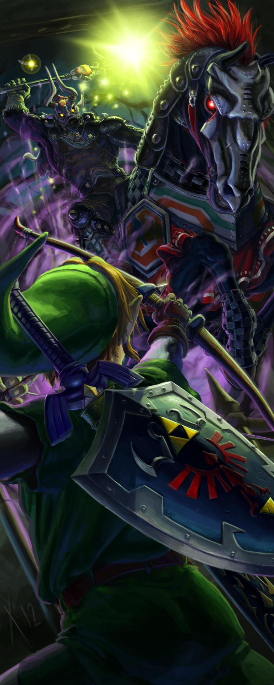 Link vs Phantom Ganon by Txikimorin