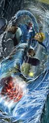 Link vs. Morpha by Txikimorin