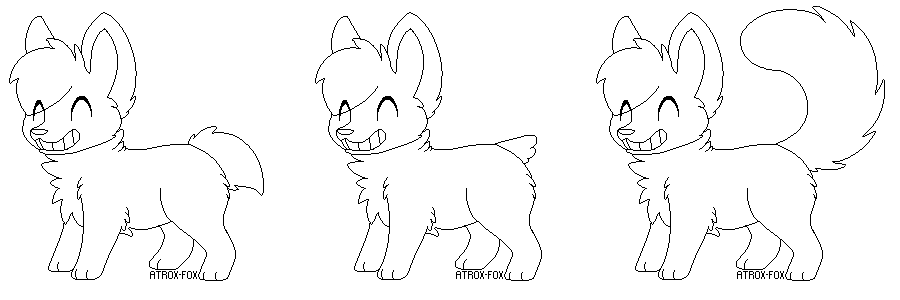 FREE Smiley Doggies Lineart by Wreaux