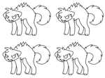 Free Angry Cat Line Art