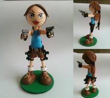 Lara Croft Foam Rubber Figure by anapeig