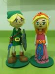 Link and Zelda foam rubber figures