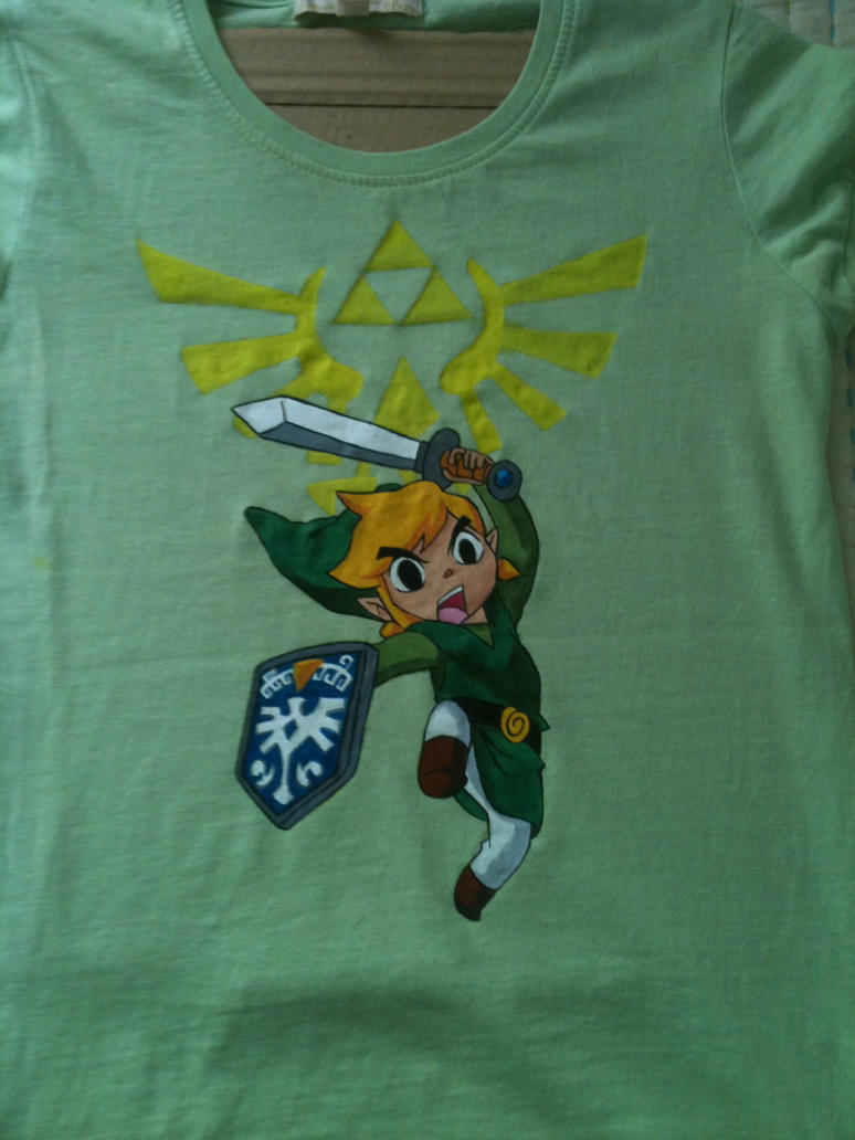 Link Hand Painted T-Shirt by anapeig