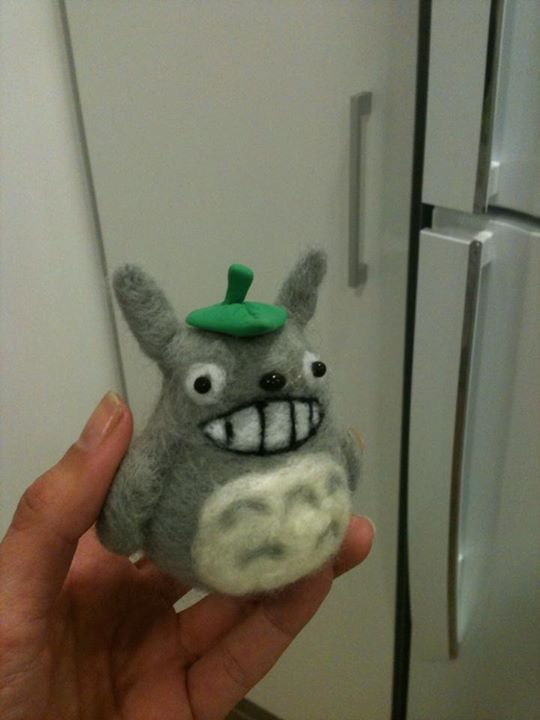 Totoro needle felted by anapeig