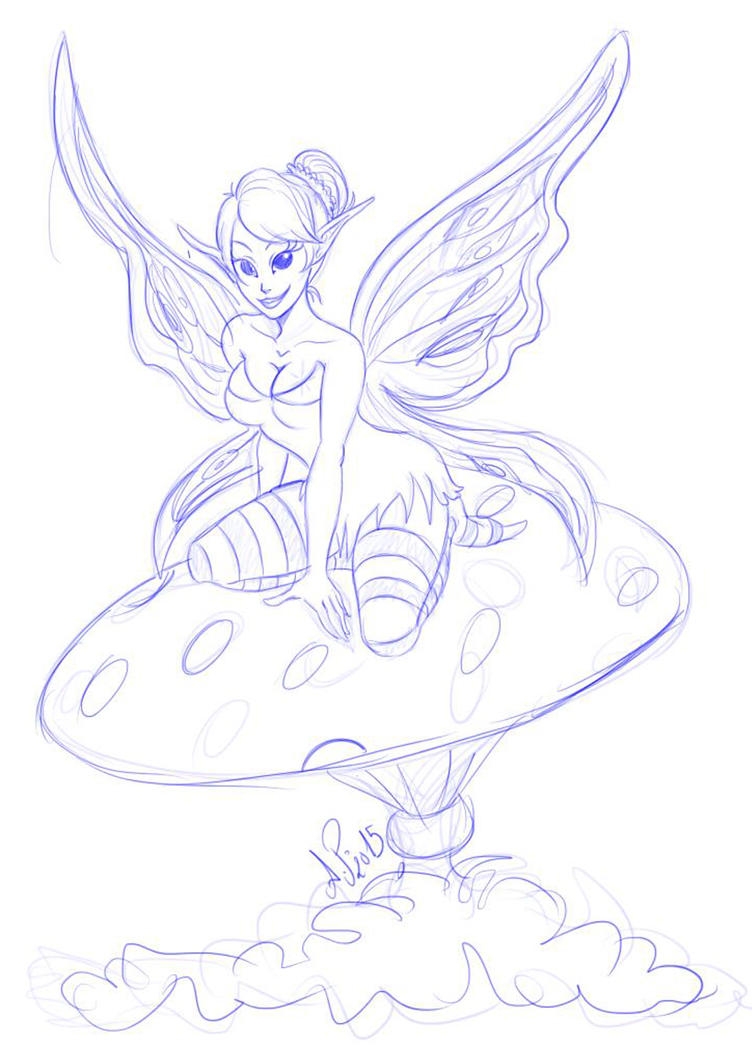 Fairy sketch by anapeig