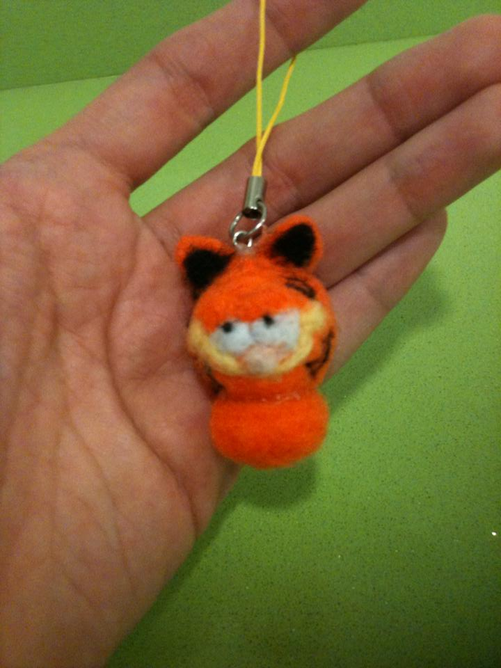 Mobile charm Garfield by anapeig
