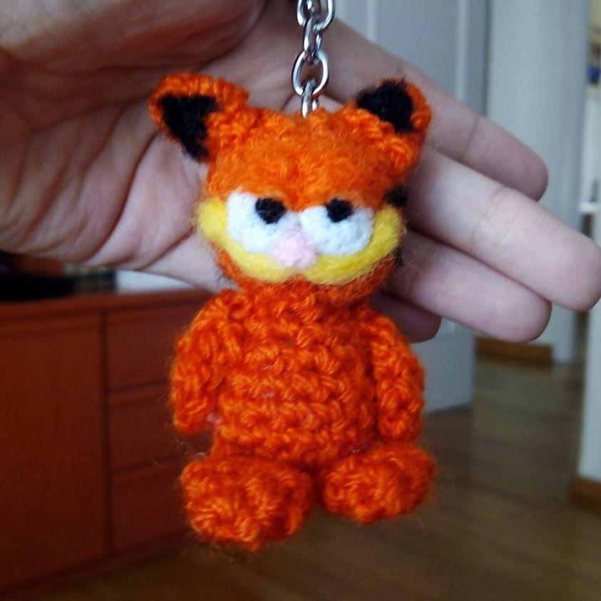 Garfield amigurumi keychain by anapeig