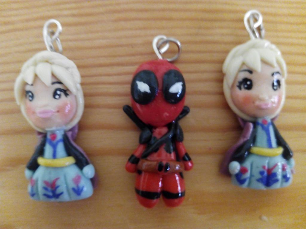 Deadpool y Elsas by anapeig