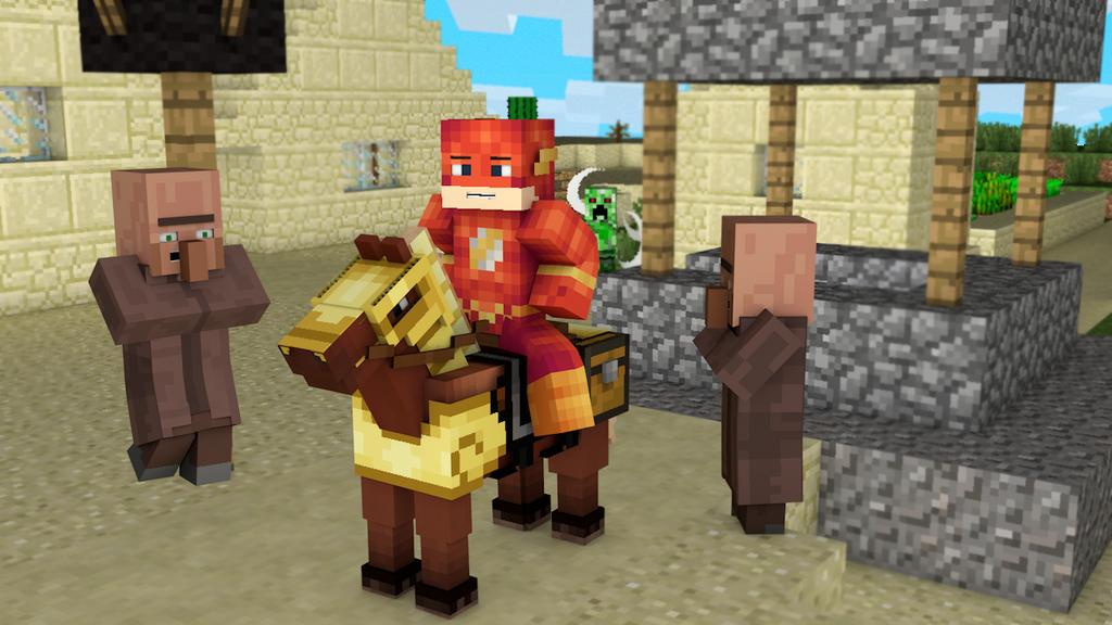 Skin Flash Minecraft Wallpaper By Eldraker