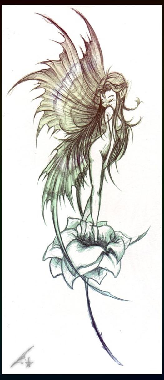 fairy tattoo by j3nov4 on deviantart. Black Bedroom Furniture Sets. Home Design Ideas