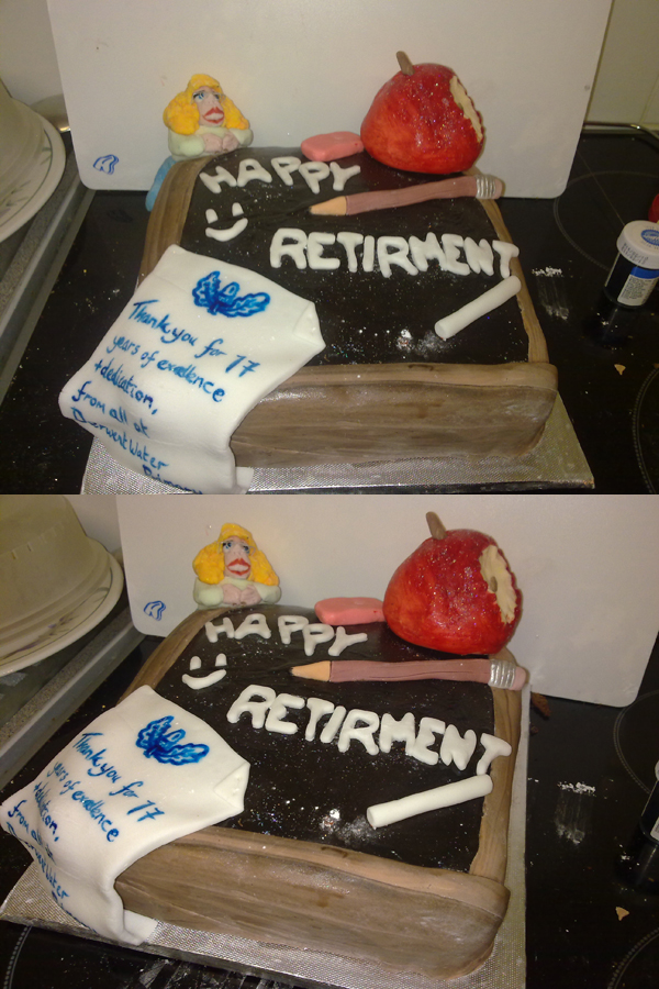 Teacher retirement cake by j3nov4 on DeviantArt