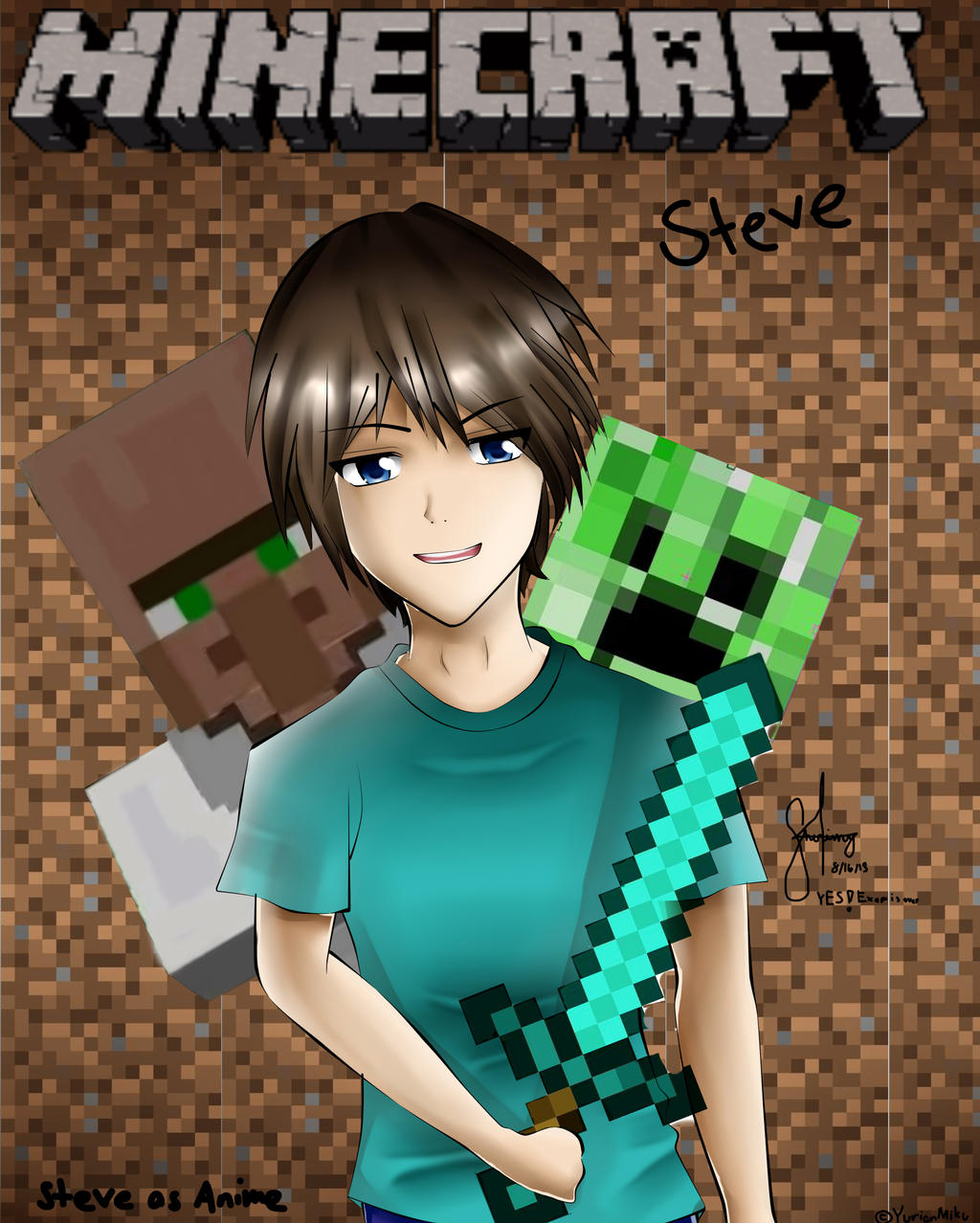 Steve In Minecraft As Anime by yurianmiku on DeviantArt