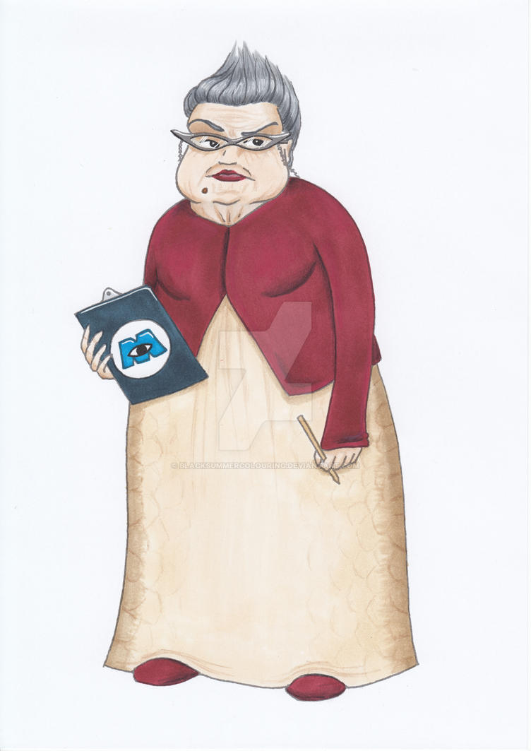 Uncategorized Roz From Monsters Inc roz monsters inc fanart human by blacksummercolouring on blacksummercolouring