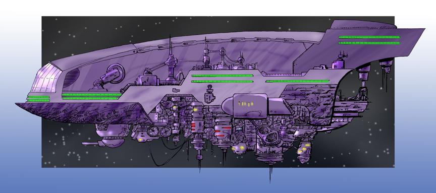 Spaceship by blackwaverising
