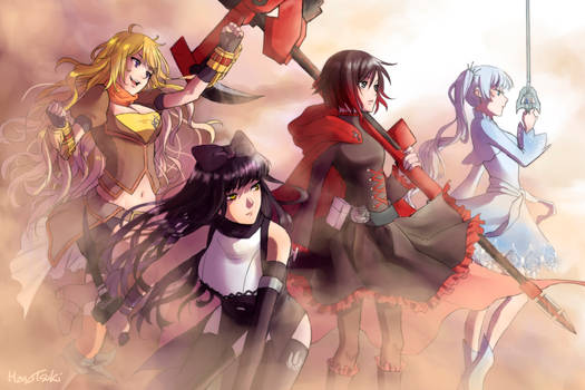 Team Rwby by Monotsuki