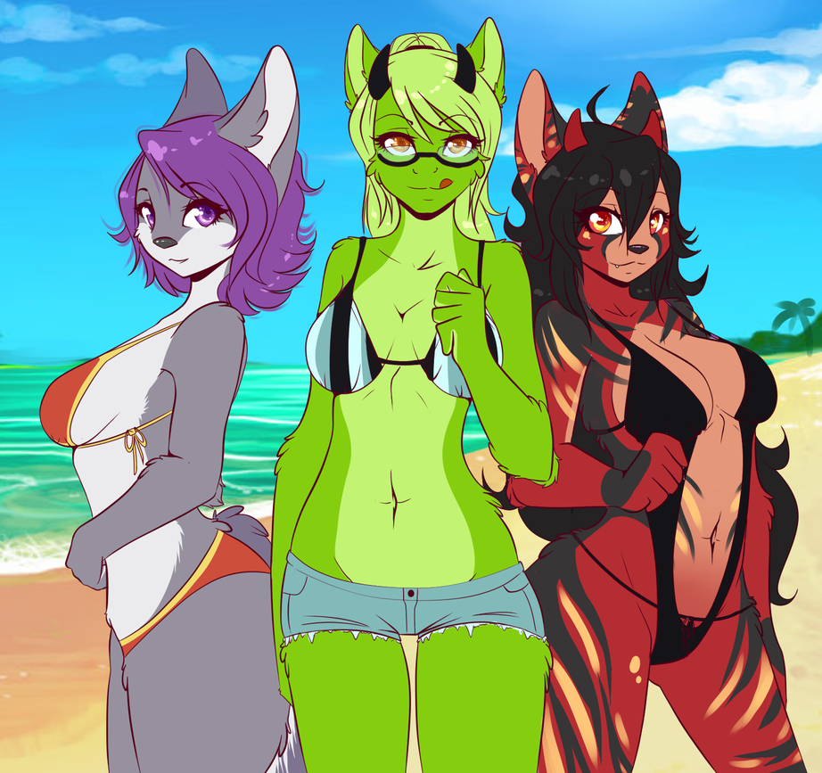 Beach Babes by l-Blair-l