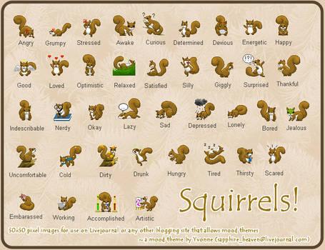 Squirrel Mood Theme Set