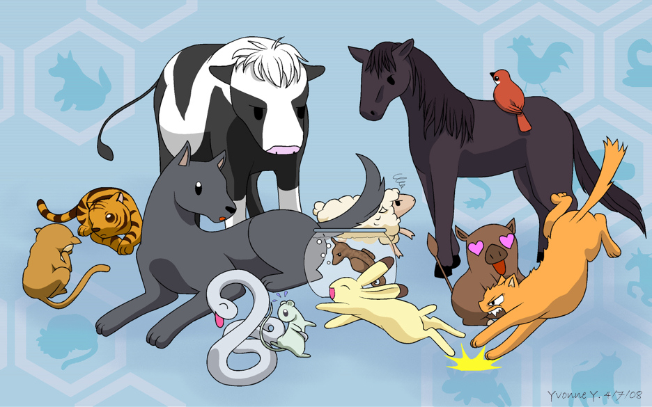 Coloring pages of animals rabbit coloring pages of animals sheep - Gallery For Gt Cute Animal Anime Characters