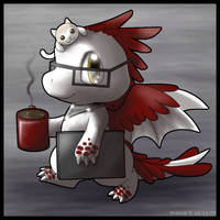Chibi Hot Chocolate Dragon by princess-phoenix