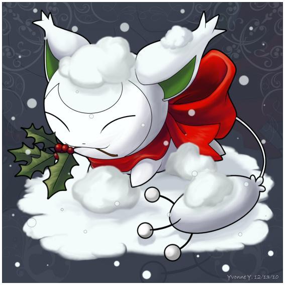 Christmas Skitty by princess-phoenix