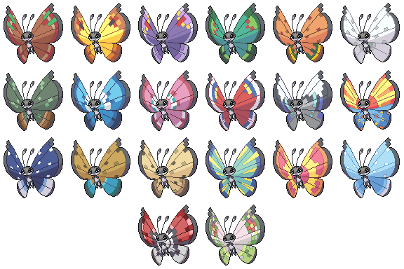 Vivillon Pattern Collection by princess-phoenix