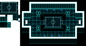 Virtual tournament room tileset by princess-phoenix