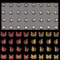 Larvesta and Volcarona Overworlds by princess-phoenix