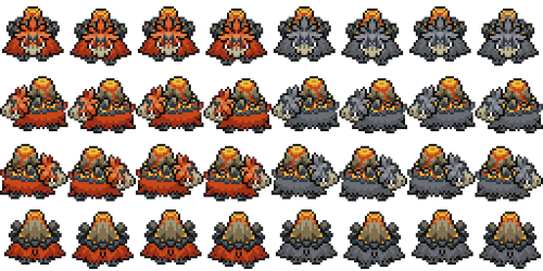 Mega Camerupt Overworld by princess-phoenix