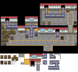 Pokeball Factory Tileset by princess-phoenix