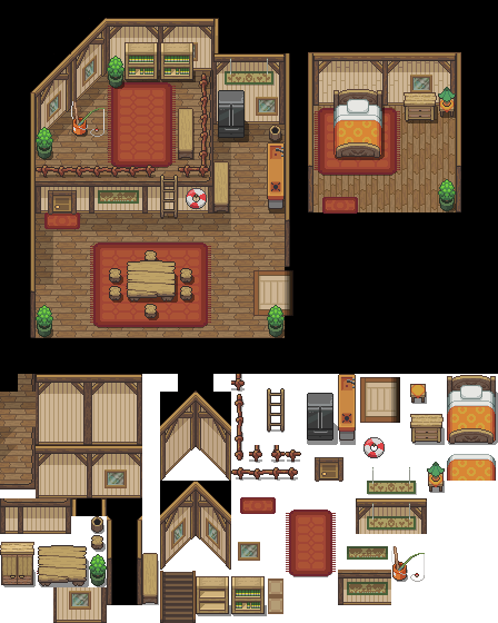 The Home of Excello Village Tileset by princess-phoenix