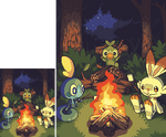 At a campfire in Galar by princess-phoenix