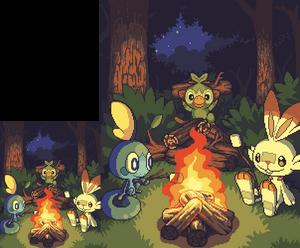At a campfire in Galar
