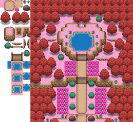 The Overly-Red Forest Tileset by princess-phoenix