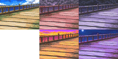 Pier or Edge of Water Background