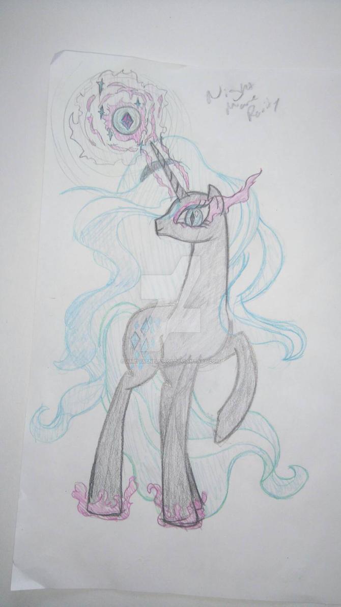 nightmare rarity sketch  by AmeliaSnels1408