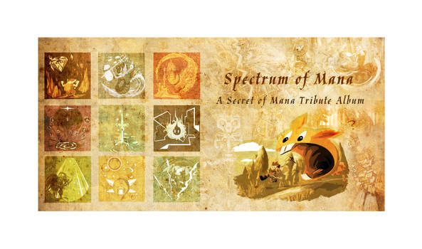 Spectrum of Mana: Album Book Back and Cover