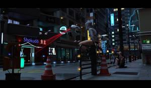Free for DAZ : Urban Streets Of Tomorrow by sfman by sfman