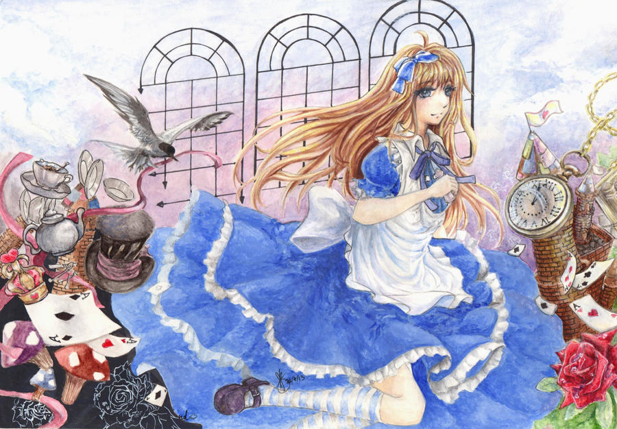The beauty of wonderland_painting